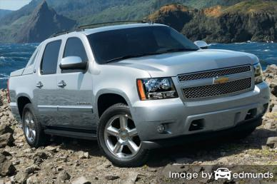 Insurance rates Chevy Avalanche in Miami