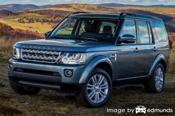Insurance rates Land Rover LR4 in Miami